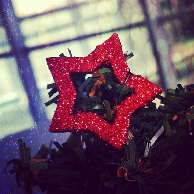 It's Christmas red star decoration cmacgm beirut Lebanon ...