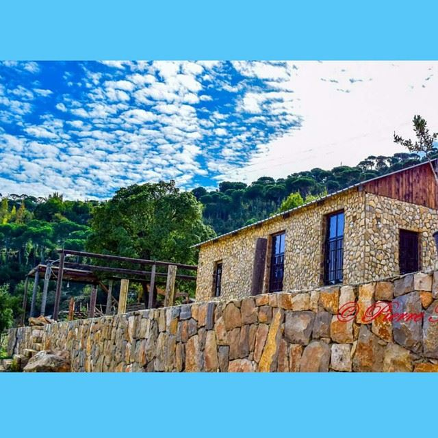 Have a nice weekend 😉😉😉 lebanese traditional house bleue sky ...