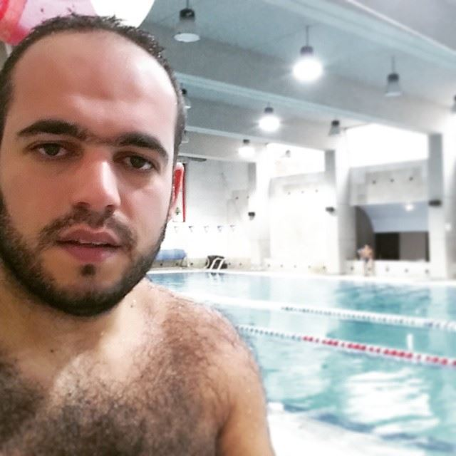 While it was raining and snowing in Lebanon ...I was swimming pool ...