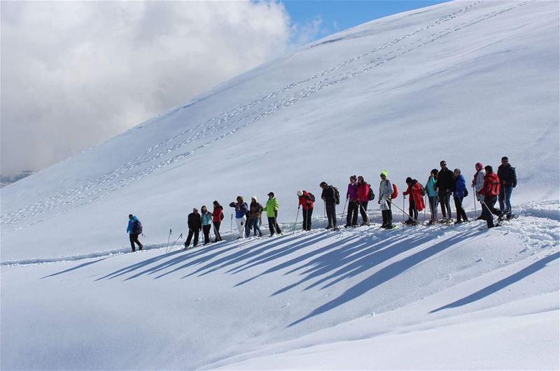 friendsoftheworld snowshoeing friendsforever laqlouq snowoverload ... (El Laqloûq, Mont-Liban, Lebanon)