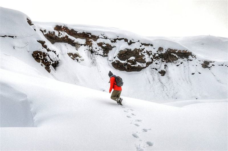 sunday hike hiking snow mountains climbing nature naturephotography... (Sanine)