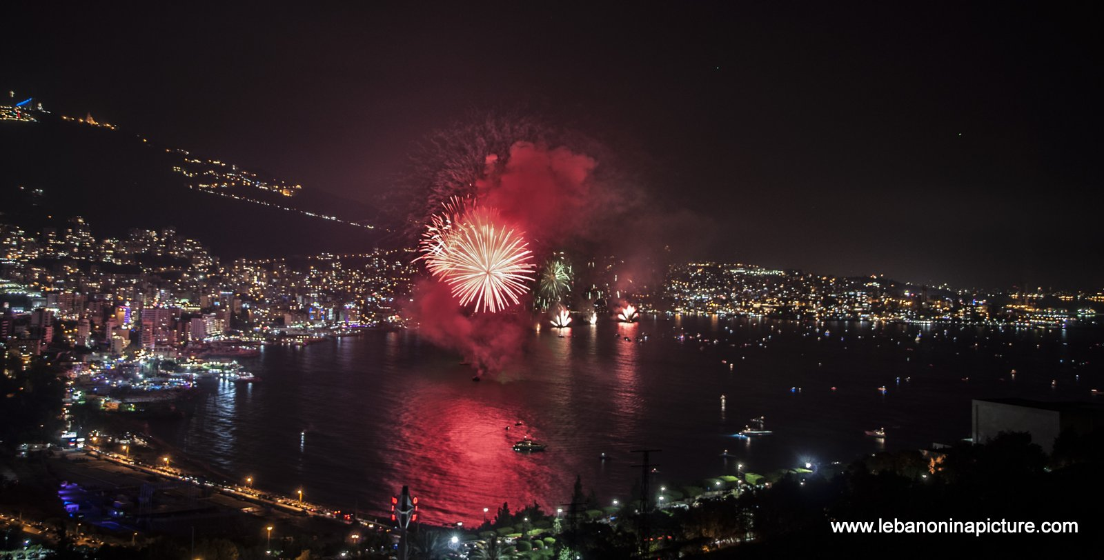 Jounieh Fireworks 2017 - The Smoke is Coming