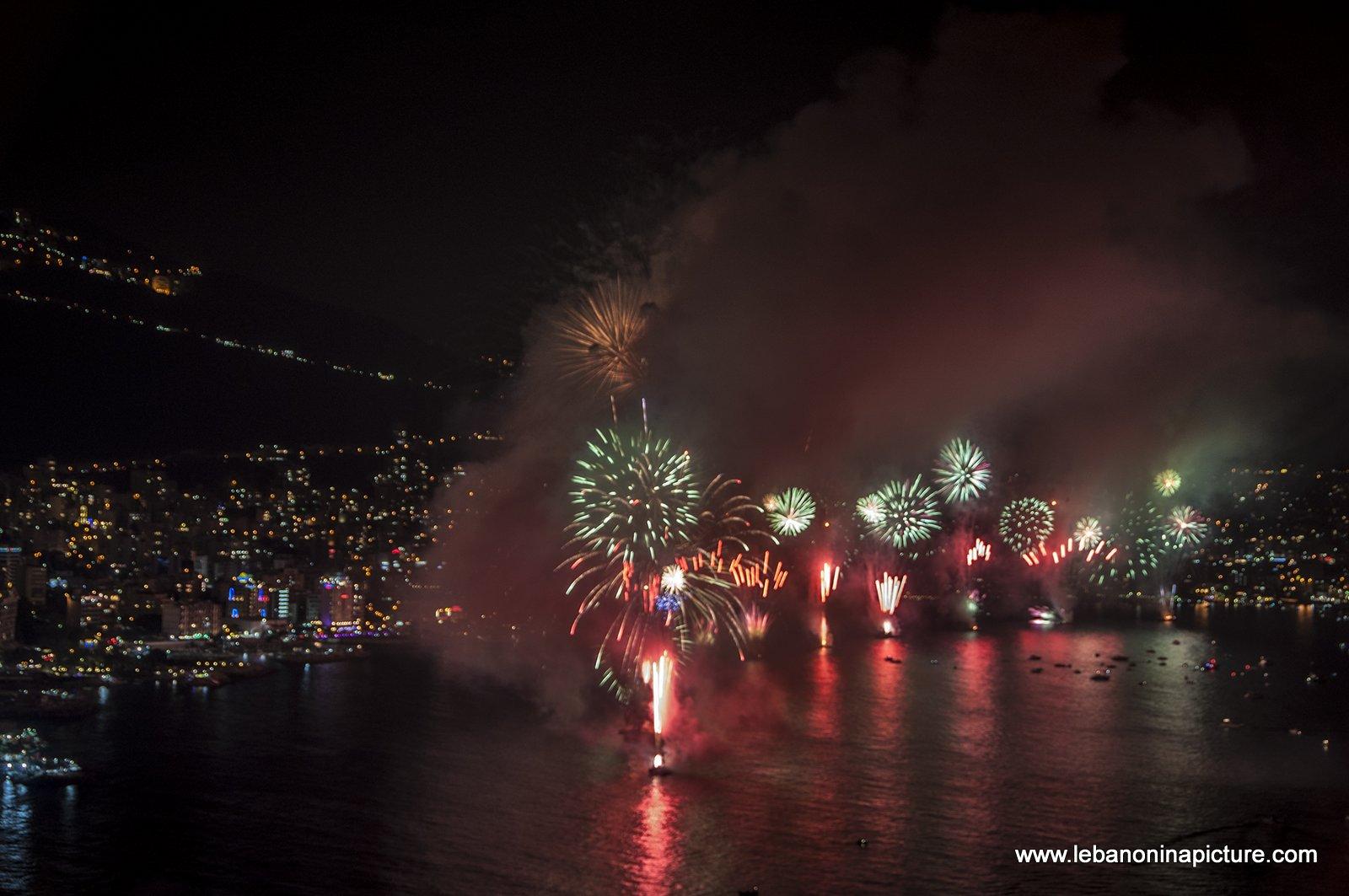 Jounieh Fireworks 2017 - Happy New Year!