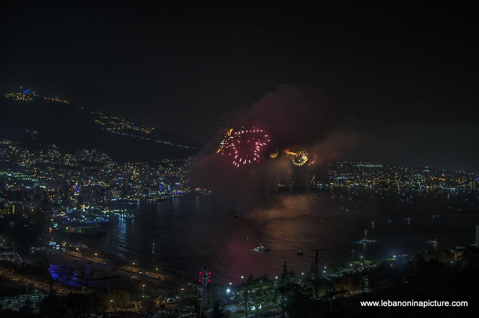Jounieh Fireworks 2017 - Heart Shaped Fireworks, From Jounieh with Love and Happy Valentine's Day!
